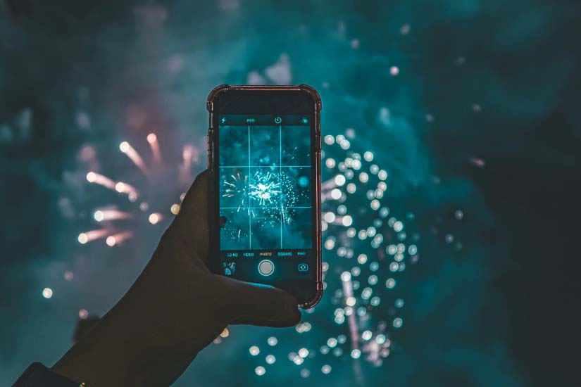 Phone Rule Of Thirds Picture Of Firework