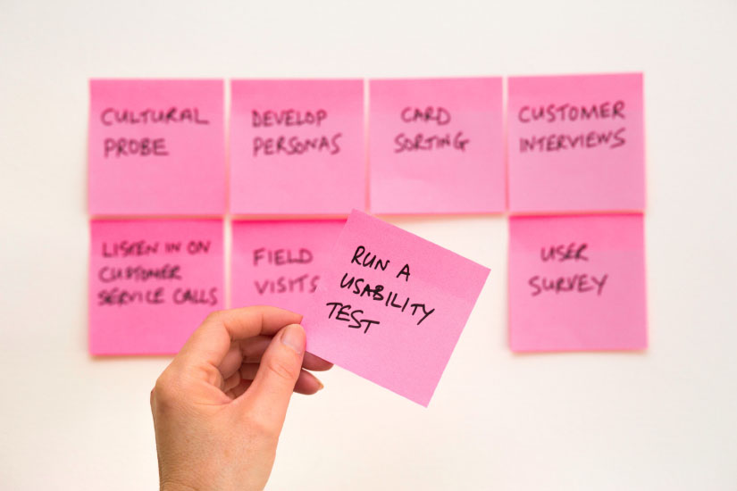 Post It Note Usability Test